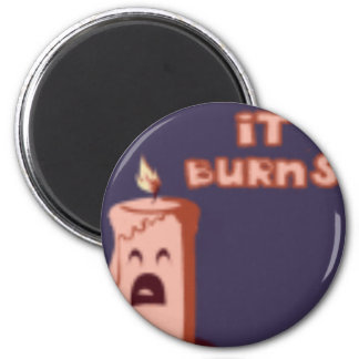 OMIGOD BURNS! 2 INCH ROUND MAGNET