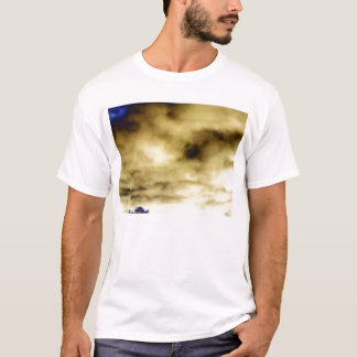 Ominous Blue&Cream Storm and Purple Treetop by T-Shirt