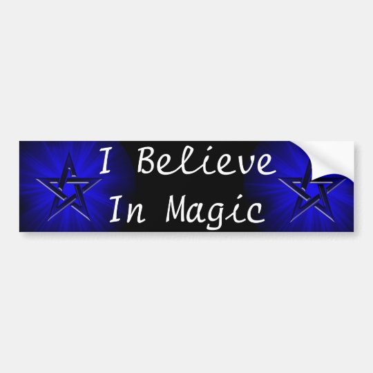 Ominous Blue Pentagram Bumper Sticker
