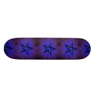 Ominous Blue Pentagram Skateboard