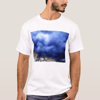 Ominous Blue Storm and Electric Branches by KLM T-Shirt