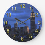 Ominous Clouds: Hurricane Sandy Approaches NYC Round Wallclock