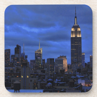 Ominous Clouds: Hurricane Sandy Approaches NYC Beverage Coaster