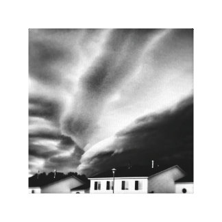 ominous storm looms canvas print