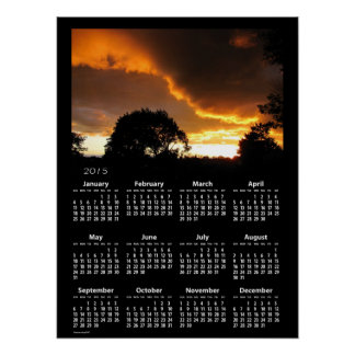 Ominous Sunset calendar ~ print
