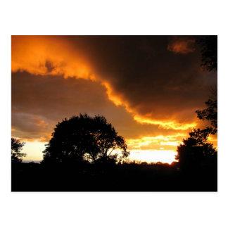 Ominous Sunset postcard