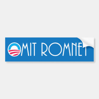 """Omit Romney""  Pro-Obama Bumper Sticker"