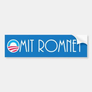 """Omita a la pegatina para el parachoques de Romney Pegatina Para Auto"