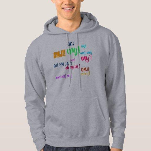 omj, omj!, OMJ!, omj!!, oh my jay!, OMJ!, OMJ!,... Hooded Sweatshirt