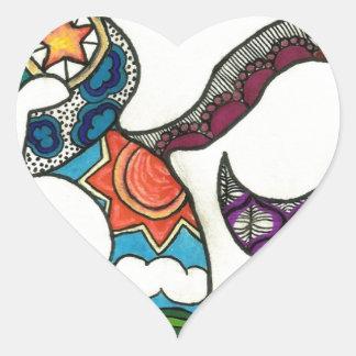 OmkarZen Heart Sticker