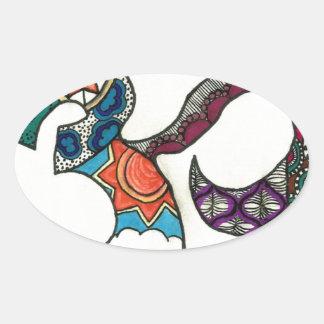 OmkarZen Oval Sticker