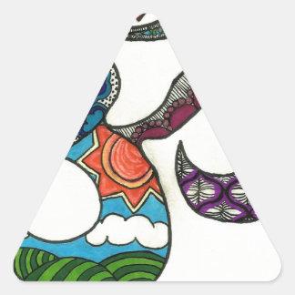 OmkarZen Triangle Sticker