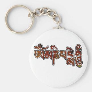 OmManiPadmeHum Basic Round Button Keychain