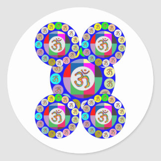 OMmantra - Breath, Chant, Meditate Classic Round Sticker