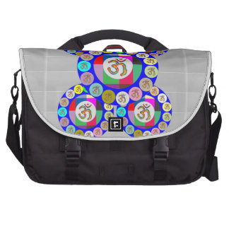 OMmantra - Breath Chant Meditate Laptop Messenger Bag