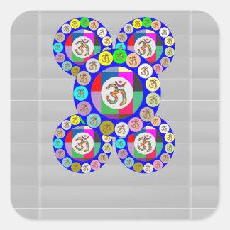 OMmantra - Breath, Chant, Meditate Square Sticker