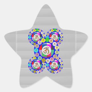 OMmantra - Breath, Chant, Meditate Star Sticker