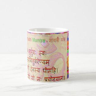 OmMantra GayatriMantra Sanskrit Script by Naveen Coffee Mug