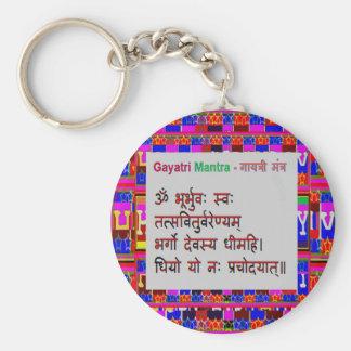 OmMantra GayatriMantra Sanskrit Script by Naveen Key Chains