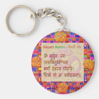 OmMantra GayatriMantra Sanskrit Script by Naveen Keychain