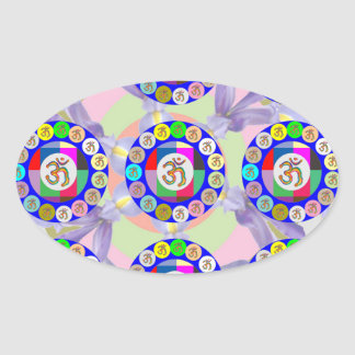 OMMantra INFINITY  : Encouraging Display Chanting Oval Sticker