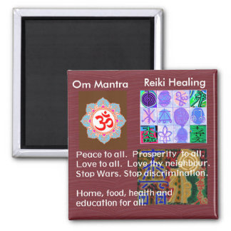 OmMantra MANTRA -  12 Reiki Healing Signs for all Magnet