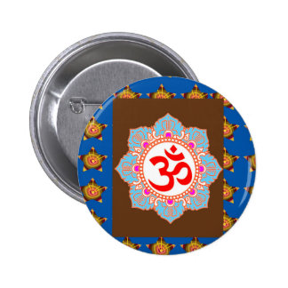 OmMANTRA Mantra Art Temple Hinduism Buddhism Bless Pinback Buttons