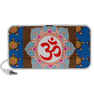 OmMANTRA Mantra Art Temple Hinduism Buddhism Bless Laptop Speakers