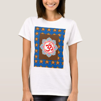 OmMANTRA Mantra Art Temple Hinduism Buddhism Bless T-Shirt