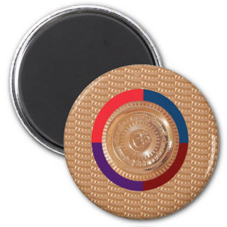 OMmantra mantra GAYATRI Chant Peace Happiness GIFT 2 Inch Round Magnet