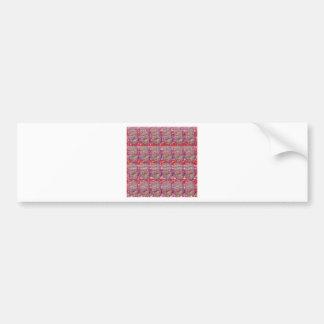 OMmantra mantra microart Ritual Ethnic Red Golden Bumper Sticker