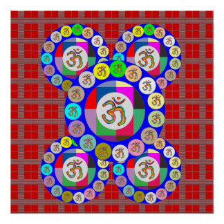 OMmantra Meditation Mandala Poster