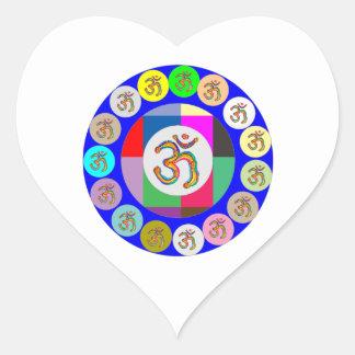 OmMantra OM MANTRA Coins Design Heart Sticker