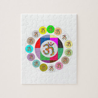 OmMantra OM MANTRA Coins Design Jigsaw Puzzle