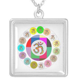OmMantra OM MANTRA Coins Design Square Pendant Necklace
