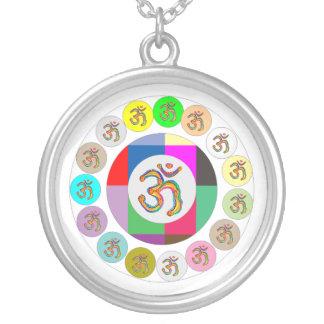 OmMantra OM MANTRA Coins Design Round Pendant Necklace