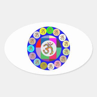 OmMantra OM MANTRA Coins Design Oval Sticker