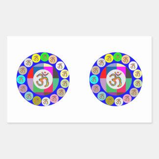 OmMantra OM MANTRA Coins Design Rectangular Sticker