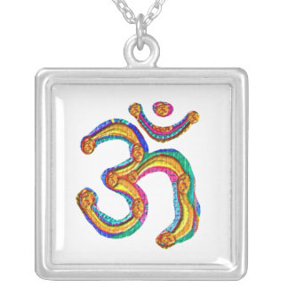OmMantra OM MANTRA Coins Design Silver Plated Necklace