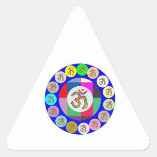 OmMantra OM MANTRA Coins Design Triangle Sticker