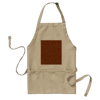 Omni dots brown, burgundy aprons