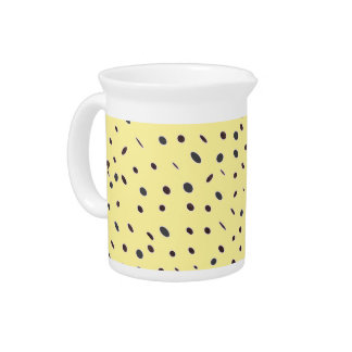 Omni dots elegant pale yellow black pattern DOTS08 Pitchers