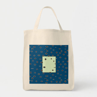 Omni dots manly blue brown monogram DOTS01 Tote Bag