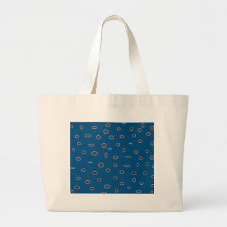 Omni dots manly blue brown pattern DOTS02 Large Tote Bag