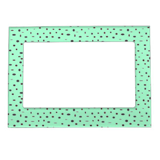 Omni dots stylish mint green black pattern DOTS07 Magnetic Photo Frame