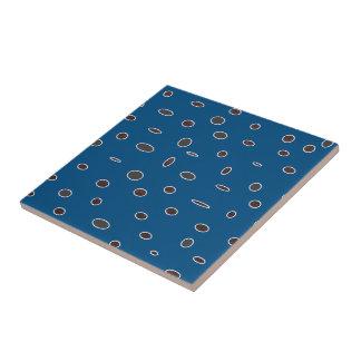 Omni puntea el modelo de hombres Dots02 del marrón Azulejo Cuadrado Pequeño