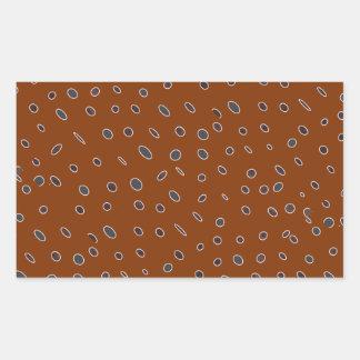Omni puntea el modelo marrón de hombres DOTS04 de Pegatina Rectangular