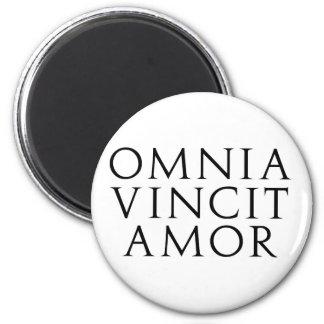 Omnia Vincit Amor 2 Inch Round Magnet