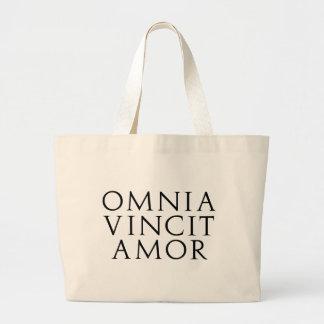 Omnia Vincit Amor Large Tote Bag