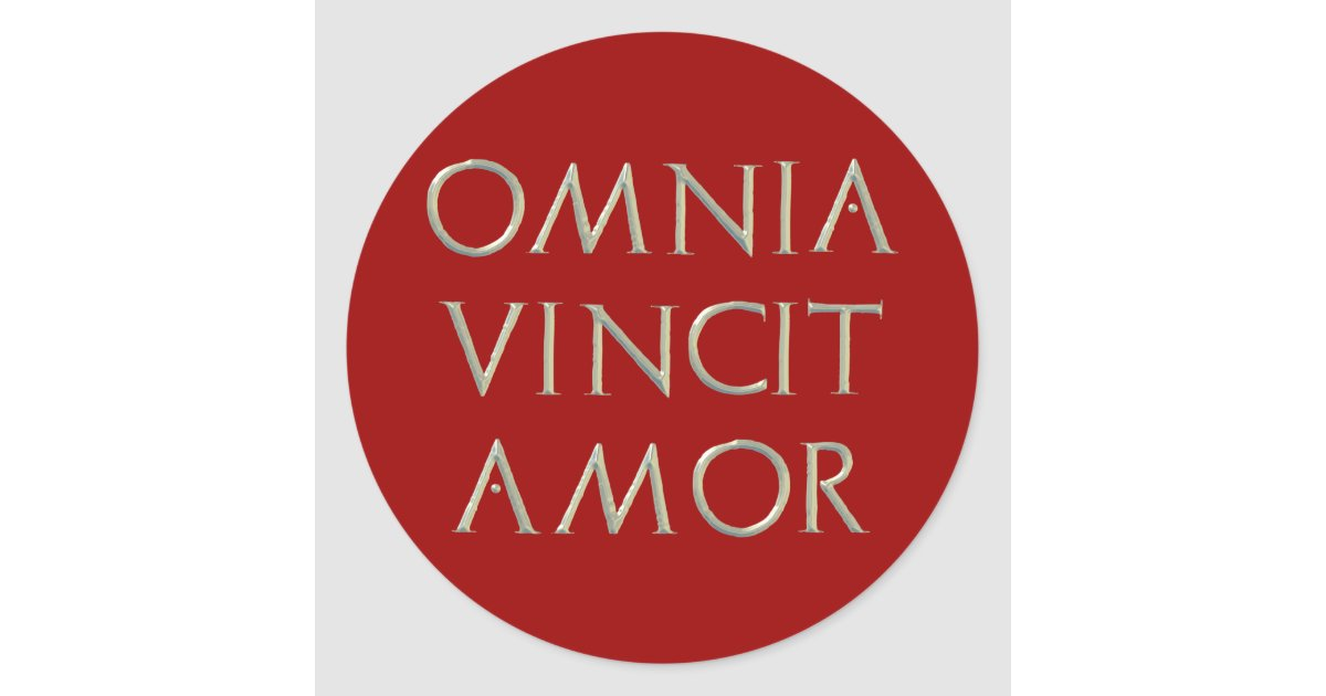 omnia vincit amor stickers. Black Bedroom Furniture Sets. Home Design Ideas